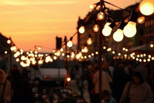 festoon party lights hire