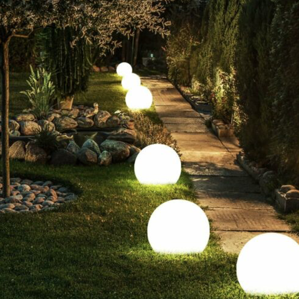light orb ideas for outdoors and landscaping