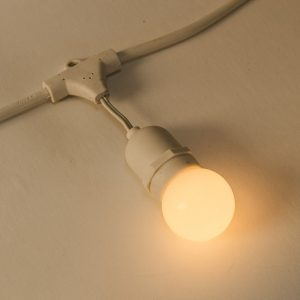 24 Volt Commercial Festoon White Pendant (50cm Spacing)